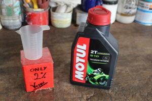 Misurino olio con olio Motul 510