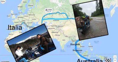 Dall'Italia all'Australia con una Vespa 50 Special