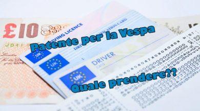 Patente per la Vespa quale prendere