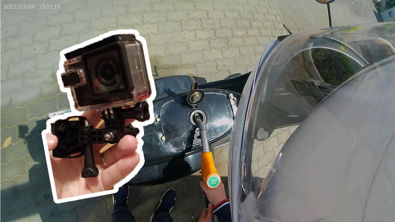 Montaggio Action Cam